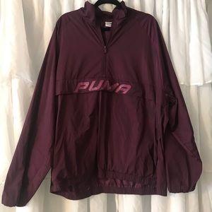 Puma Half zip track jacket purple